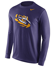 Nike Men's LSU Tigers Logo Long-Sleeve T-Shirt