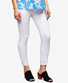 Luxe Essentials Denim Maternity White Wash Skinny Jeans