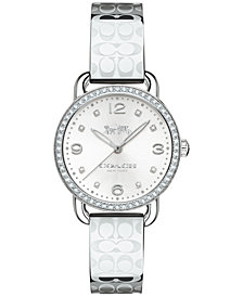 COACH Women's Delancey Stainless Steel Bangle Bracelet Watch 28mm 14502765