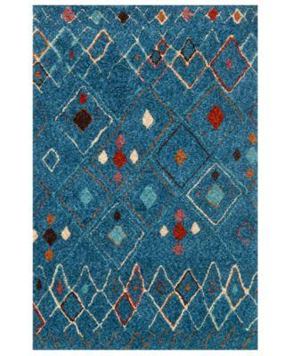 """Justina Blakeney Kalliope KP-01 Blue/Multi 5' x 7'6"""" Area Rug"""