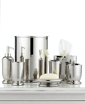 Closeout Martha Stewart Collection Polished Metal Bath Accessories Collection Only At Macy 39 S
