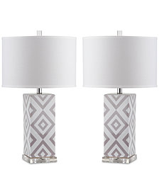 Safavieh Set of 2 Diamonds Table Lamps
