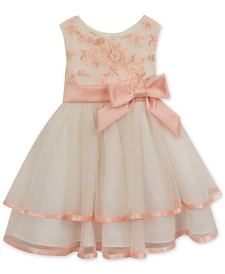 Rare Editions Floral-Bodice Tiered Dress, Baby Girls (0-24 months ...
