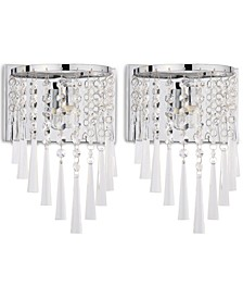 Set of 2 Tilly Chrome-Tone Wall Sconces
