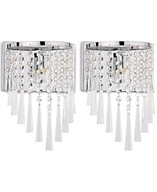 Safavieh Set of 2 Tilly Chrome-Tone Wall Sconces