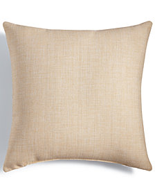 "LAST ACT! Hallmart Collectibles Beige Textured 18"" Square Decorative Pillow"