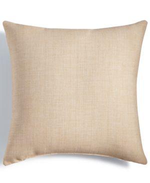 "Last Act! Hallmart Collectibles Beige Textured 18"" Square Decorative Pillow 4690596"