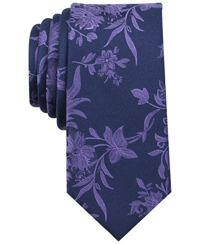 Bar III Men's Danforth Floral Skinny Tie, Created for Macy's