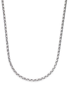 "22"" Wheat Link Chain Necklace in Sterling Silver"