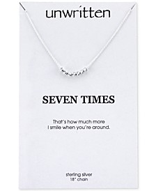Mini Bead Necklace in Sterling Silver