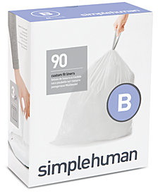 simplehuman Code B 90-Pk. Custom-Fit Trash Can Liners