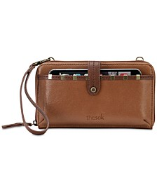 Women's Iris Smartphone Leather Crossbody Wallet