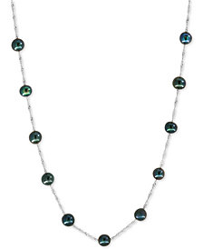 Pearl Lace by EFFY® Black Cultured Freshwater Pearl (6mm) Collar Necklace in 14k Gold or White Gold