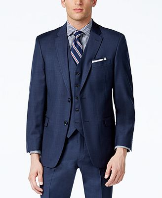 Tommy Hilfiger Sharkskin Classic-Fit Jacket Pants + Pants