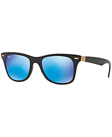 Ray-Ban WAYFARER LIT Sunglasses, RB4195 52