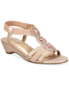 Karen Scott Casha Wedge Sandals, Created for Macy's