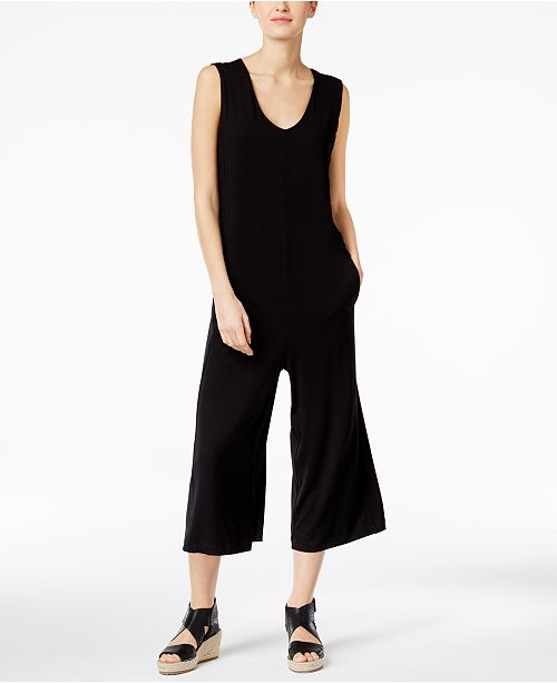 55ca54cab4b Eileen Fisher Stretch Jersey Cropped Jumpsuit   Reviews - Pants ...