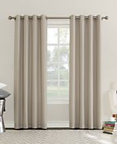 Sun Zero Eunice Room Darkening Triple-Lined Grommet Curtain Panel Collection