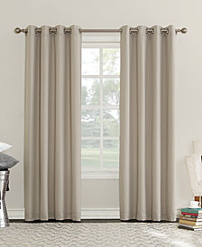 "CLOSEOUT! Sun Zero Eunice 50"" x 95"" Room Darkening Triple-Lined Grommet Curtain Panel"