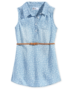 Epic Threads FloralPrint Denim Dress Little Girls (46X) Created for Macys