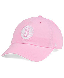 '47 Brand Women's Brooklyn Nets Petal Pink CLEAN UP Cap