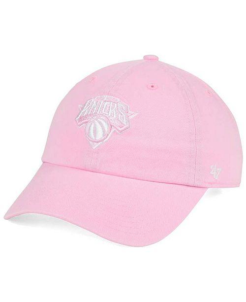 '47 Brand Women's New York Knicks Petal Pink CLEAN UP Cap