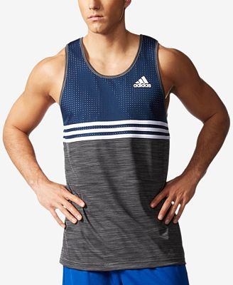 adidas Men's Double Up Basketball Tank Top