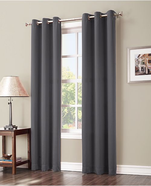 "Sun Zero Preston 40"" x 84"" Grommet Top Blackout Curtain Panel"