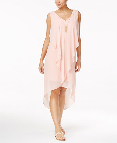Thalia Sodi Ruffled High-Low Shift Dress, Created for Macy\'s ...