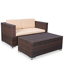 Aldin 2-Pc. Outdoor Chat Set with Cushion, Quick Ship