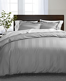 Stripe Supima Cotton 550-Thread Count Bedding Collection, Created for Macy's