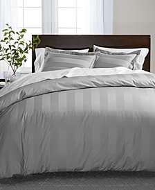 Charter Club Damask Stripe Supima Cotton 550-Thread Count Bedding Collection, Created for Macy's