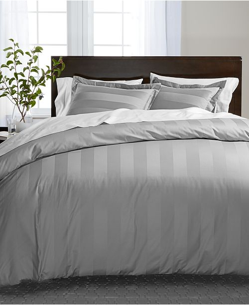 Charter Club Stripe Supima Cotton 550-Thread Count Bedding Collection, Created for Macy's
