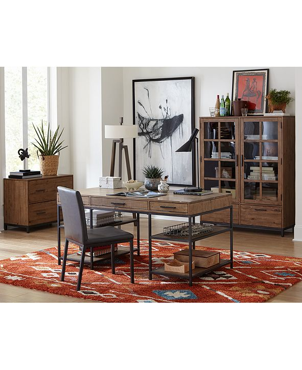 Furniture Gatlin Home Office 4-Pc. Furniture Set (Desk, Lateral File, Desk Chair & Bookcase), Created for Macy's