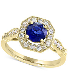 Final Call by EFFY® Diffused Ceylon Sapphire (1 ct. t.w.) & Diamond (1/4 ct. t.w.) Ring in 14k Gold