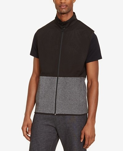 Kenneth Cole Reaction Men's Colorblocked Mesh-Layer Vest