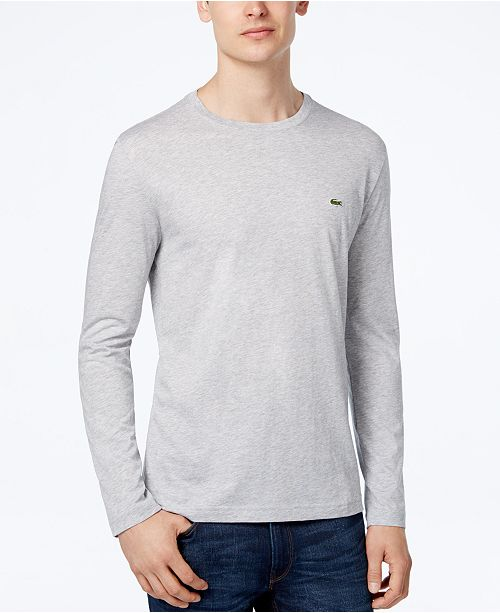 a25ef8d3749a7b Lacoste Pima Jersey Crew-Neck T-Shirt   Reviews - T-Shirts - Men ...