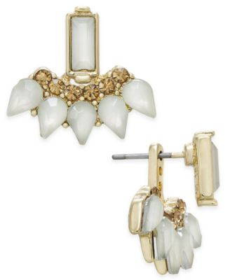 Image of INC International Concepts Gold-Tone Stone and Crystal Earring Jackets, Created for Macy's