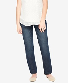Motherhood Maternity Medium Wash Straight-Leg Jeans
