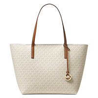 Michael Kors Signature Hayley Large East West Top Zip Tote