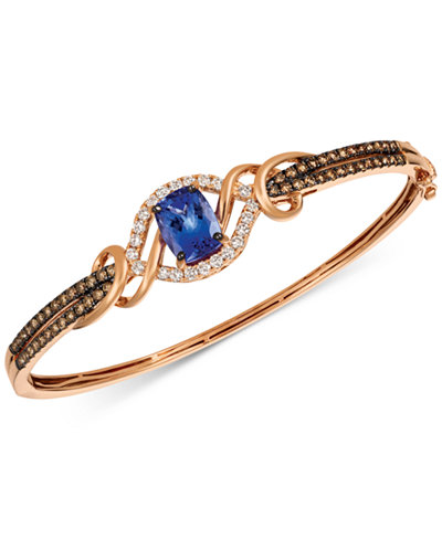 ring blueberry band gold diamond garage white and vian tanzanite sale womens shop le days