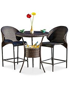 Gerren 5-Pc. Bistro Bar Set with Ice Pail