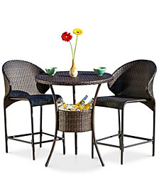 Gerren 5-Pc. Bistro Bar Set with Ice Pail, Quick Ship