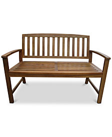 Tennon Acacia Bench, Quick Ship