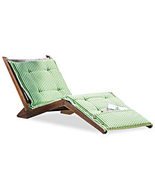 Sheerin Cushion Folding Lounger, Quick Ship
