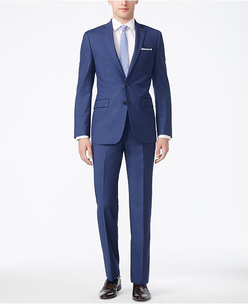 b29d4cdeea9 Calvin Klein X-Fit Solid Slim Fit Suit Separates   Reviews - Suits ...