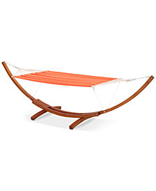 Golen Stripe Hammock with Base, Quick Ship