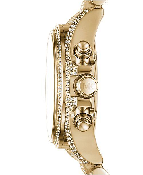 Michael Kors Women S Chronograph Mini Bradshaw Pav 233