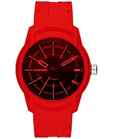 Men's Armbar Red Silicone Strap Watch 45mm DZ1820