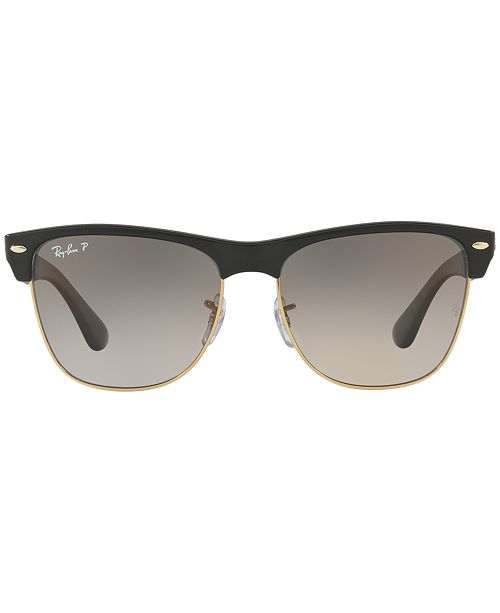 Ray-Ban Polarized Sunglasses, RB4175 CLUBMASTER OVERSIZED - Sunglasses by  Sunglass Hut - Men - Macy s 9550dad3d90b